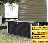 Trimetals Kissenbox, Gartenbox, Universalbox 600l Anthrazit // Universalbox und Gartentruhe 135x79x73cm (LxBxH)