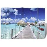 Biombo impresión de playa 240 x 180