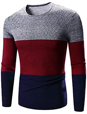 MEI&S Los hombres de cuello redondo tejido Sweater Pullover puente