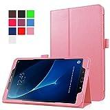 Funluna Samsung Galaxy Tab A 10.1 Hülle, Stoßfest PU Lederhülle mit Ständerfunktion und Auto Schlaf/Wachen Folio Schutz Tasche für Samsung Galaxy Tab A 10,1 Zoll SM-T580/T585(Kein S-Pen)