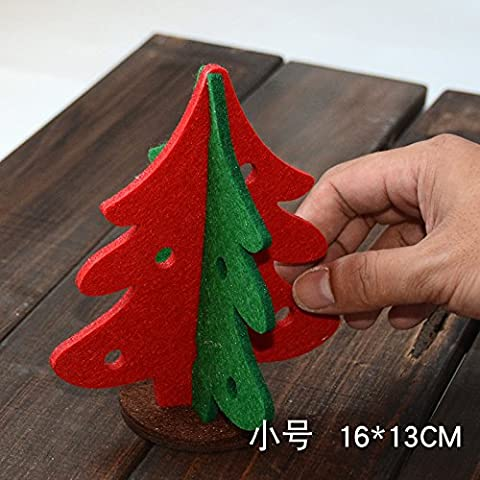 Tianliang04 Weihnachtsbaum Small Christmas Tree Ornaments Desktop Christmas Decorations Christmas Tree Christmas Gift Package,16 Cm Felt Christmas Tree