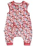 Vaenait baby Maedchen Babyschlafsack Ultrasoft Mikrofaser Sleepsack Pink Daisy Sleep L