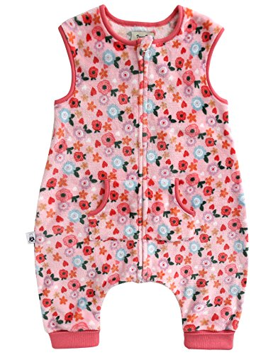 Vaenait baby Maedchen Babyschlafsack Ultrasoft Mikrofaser Sleepsack Pink Daisy Sleep M - Mikrofaser-daisy