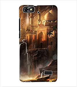 ColourCraft Beautiful Castle Design Back Case Cover for HUAWEI G PLAY MINI