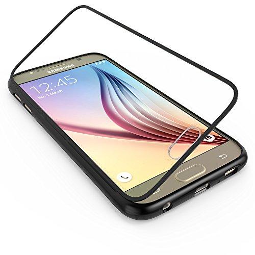 youcase - Samsung Galaxy S4 Mini I9190 I9195 Touch Case TPU-Schutz-Hülle mit Schutzfolie Displayfolie Outdoor Smart Cover Tasche Etui Silikon schwarz