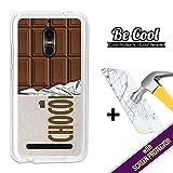 BeCool®–Handy Schutzhülle [Flexible Gel] für ZTE Nubia N1Lite [+ 1Displayschutzfolie Glas] Ultra Dünn Silikon, schützt und sich perfekt an Ihrem Smartphone. Tafel-Schokolade.