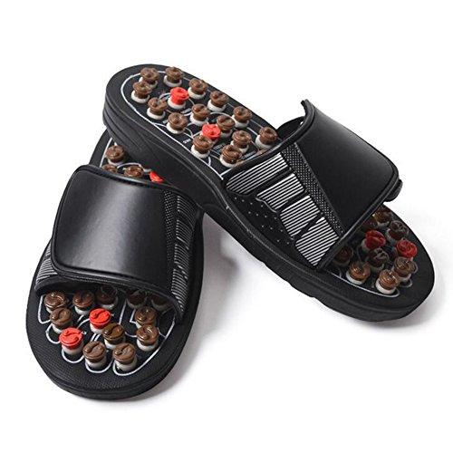 Neutral Fußmassage Hausschuhe 82 Rotierende Akupunkturpunkte Therapie Ergonomische Anordnung Für Frauen Männer HMYH,Brown,40