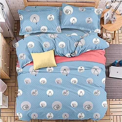 YUNSW Blume Bettbezug Für Erwachsene Kinder Bettwäsche Geschenk Twin Voll Königin King Size Heimtextilien B 180x220 cm - Geraffte Bettwäsche Lila