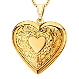 18K Gold Plated Fancy Locket Fashion vintage Jewelry Wholesale Women Gift New Romantic Heart Necklaces Pendants p30041