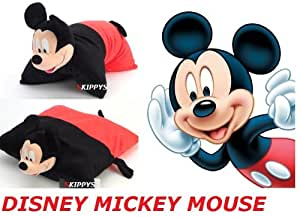 "Disney Mickey Mouse 18"" Cuddle Pet Animal Pillow Plush Extra Large 2in1 Animal Pets Pillow"