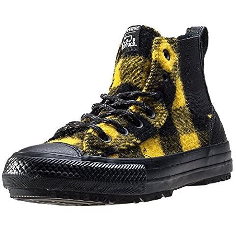 Converse Ctas Chelsea Woolrich Hi, Bottes Chelsea femme - noir - Noir/jaune, 38 EU