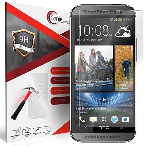 rfolie Kompatibel mit HTC One M8, Panzerglas Glasfolie 9H Anti Öl Anti Fingerprint Schutzfolie für One M8 Folie HD Clear ()