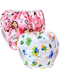 Teamoy 2pcs Baby Nappy riutilizzabile pannolino da nuoto