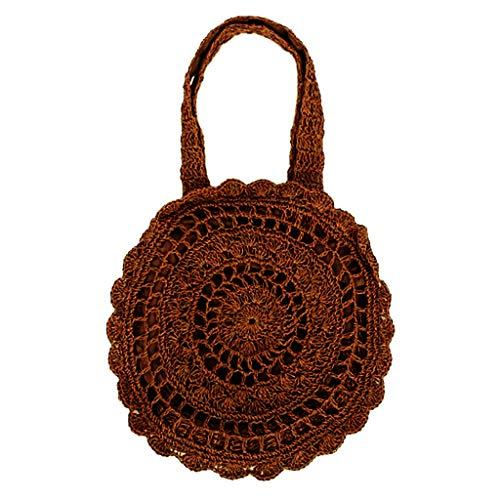 Häkeln Handtasche (Mädchen Dating Shopping Stroh Schultertasche Handtasche häkeln gewebten Beutel)