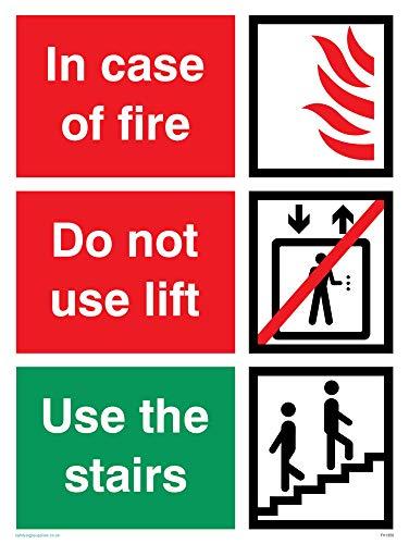 Nicht Verwenden, Lift (Viking Schilder fv1350-a5p-1min Case of Fire; nicht verwenden Lift, benutzen Sie die Treppen Zeichen, Kunststoff, 1mm halbstarr, 200mm H x 150mm W)