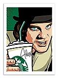 Affiche - Art - 50 x 70 cm - Orange mécanique x Starbuck - Pop-art by Butcher Billy
