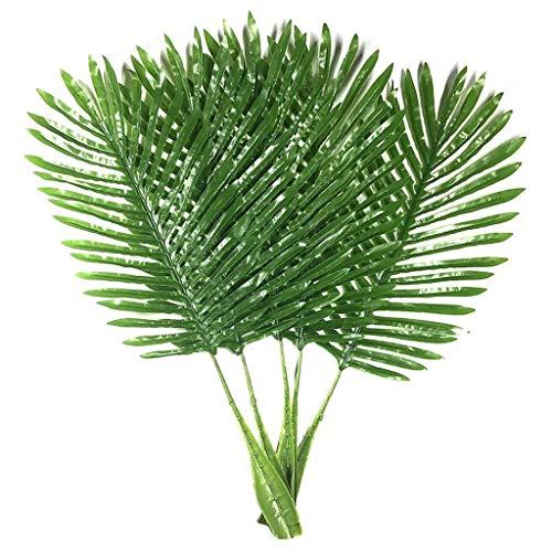 Goodplan Durable 5 Pack Palm Blätter Gefälschte Faux Künstliche Pflanze Blätter Grün EIN Blatt Palm für Home Kitchen Party Supplies Tropische Blätter Dekorationen 26 Zoll (Party Tropische Supplies)