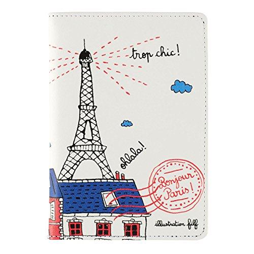 Derrière La Porte DLP : Protège Passeport BONJOUR PARIS pour Femme Homme Etui Pochette