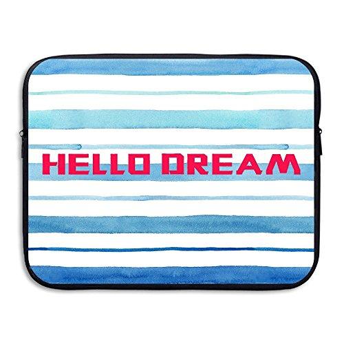 Von Hello Bag Haus (ZMviseHello Dream Words Deisgn die schlanke, gepolsterte laptop weicher neopren - ärmel tasche fall decken für notebook - computer ipad - tablet)