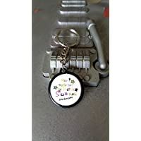 Porte clés 25 mm Merci Maitresse + prénom