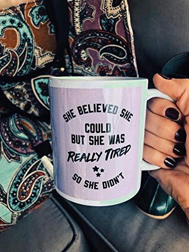 Claude6yhAly Sie glaubt, DASS sie k?nnte, Aber sie war wirklich m¨¹de, so DASS sie Nicht 6027 Becher Kaffee Tassen von Hippie L?Ufer Koffein-Liebhaber-lustige Becher-Kaffeetasse