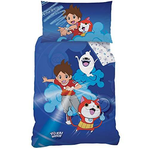 Yo-Kai Watch 044824Gang Renforce–Ropa de Cama, algodón, Azul, 160x 210cm