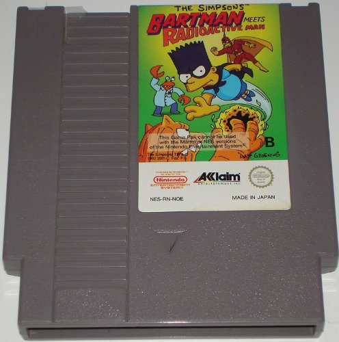 (The Simpsons: Bartman Meets Radioactive Man (Nintendo NES) lose)