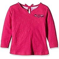 Zunstar Zara-Camiseta de manga larga para niña Rosa fucsia Talla:FR : 7 ans (Taille Fabricant : 122/128)