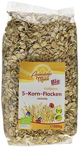 Antersdorfer Mühle 5-Korn-Flocken, 10er Pack (10 x 500 g) - Bio -