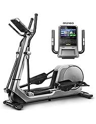 Sportstech Bicicleta elíptica LCX800, Luxus Pantalla Android Multifuncional, Volante 24Kg, App Smartphone,Bluetooth,Compatible con Pulseras de Actividad,12 programas de Entrenamiento.