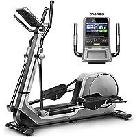 Sportstech LCX800 Vélo elliptique de Luxe avec Console Multifonction Android, Roue d'inertie de 24 kg, app pour Smartphone, Bluetooth, 12 programmes de d'entraînement, HRC et Porte-Tablette