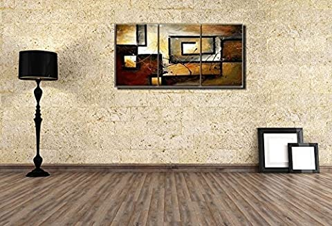 Mon Kunst 100% Hand Painted Oil Painting Abstract Art Large Modern Art 3 Piece Wall Art Canvas Art for Home Decoration(UnStretched and UnFramed) by Mon Kunst