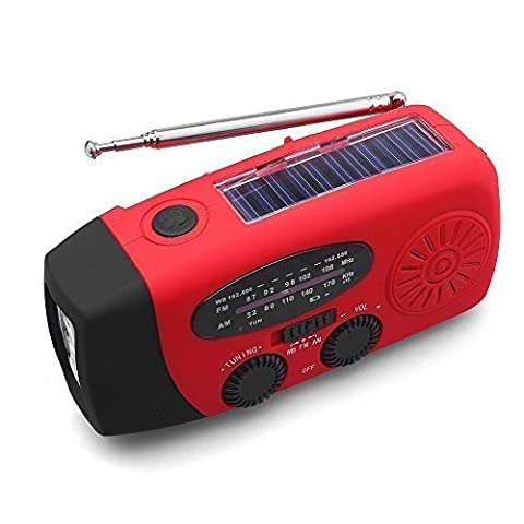 JARBO Multifunctional Emergency Solar Wind Up Self Powered and Rechargeable