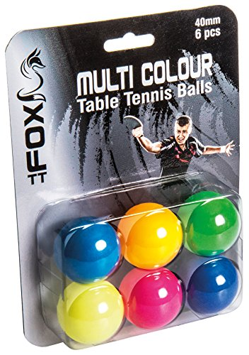 Ping-pong-bälle Farbig (Fox TT Unisex-Erwachsene 6Stück Bälle Tisch Tennis Bälle?Multi)