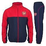 Arsenal FC - Jungen Trainingsanzug - Jacke & Hose - Offizielles Merchandise - Geschenk für Fußballfans - Rot - 8-9 Jahre