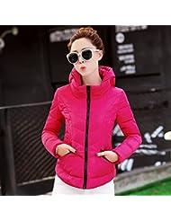 wjp Mujeres Ultra Lightweight Stop fbarer Down Jacket Outwear búfer Chaqueta de plumón W de 2556, color Die Rote, tamaño L