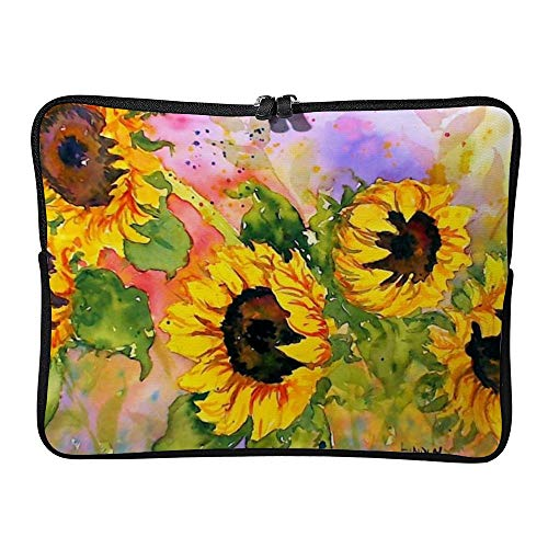 DKISEE Watercolor Sunflowers Laptop Sleeve Case Bag Cover Compatible 13 inches Notebook MacBook Air MacBook Pro - Cover Hp-laptop-disney