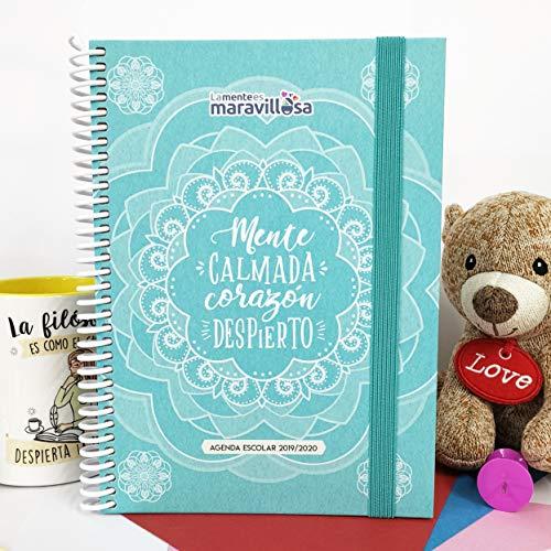 La Mente es Maravillosa - Agenda escolar 2019-2020 (Tamaño A5, Semana Vista) Diseño Mandala