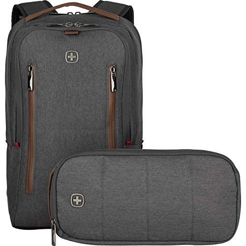 Wenger City Upgrade - Zaino per PC portatile da 40,64 cm (16'), con Cross Body Day Bag Grey
