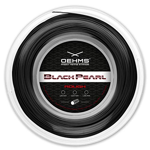 Oehms Black Pearl Rough | 200m Rolle | Ø 1,23 mm | monofile Co-Polyester Tennissaite