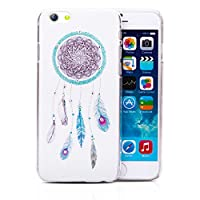 Infinite U 3D Bling Rhinestone Wind Chime with Feather Cell Phone Cover/Case for iPhone 6/6s 4.7