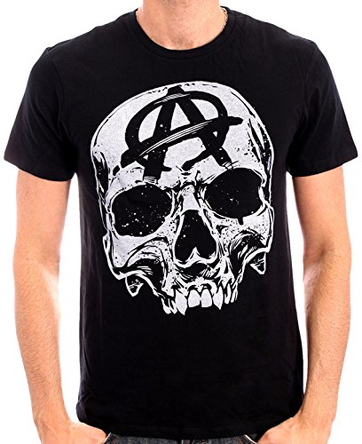 Sons of Anarchy - Big Skull Head, T-shirt da uomo, Nero (Black), Medium (Taglia produttore: M)