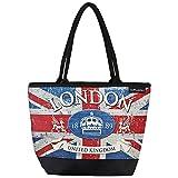 VON LILIENFELD Tasche Damen Henkeltasche Shopper Bedruckt Motiv Vintage Flagge London