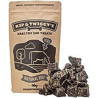 Kip & Twiggy's Natural Beef Bites - Tratamientos saludables para perros, 100% carne seca natural (3 x 90 g)
