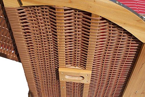 Strandkorb Scharbeutz XXL NWEIDE Design 0 -zerlegt- in Beige als Ostsee-Strandkorb - 2