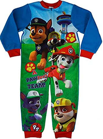 Boys - Paw Patrol Fleece Onesie Sleepsuit[3-4