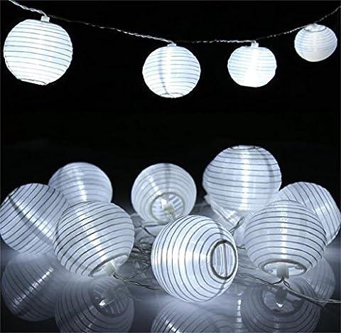 Solar String Lights 30 LEDs Chinese Lantern Waterproof IP65 Outdoor