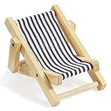 Deko-Liegestuhl ca. 10 cm blau-weiß