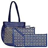 #8: Cuddle Women's Handbag Blue (CUDCUTCOHBSLWD2Blue, Combo of 3)