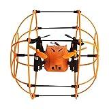 GJKK Helic Max Sky Walker 1336 2,4 GHz 4CH RC Drone RC Quadcopter 3D Flip Kletterwand Roller Ferngesteuerte Flugzeuge Aircraft Aeroplanes Spielzeug modellflugzeuge Outdoor Flugzeuge RC Mini Drone Kopflosmodus Tragbare Drohne (Orange)